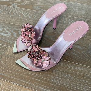 Luichiny Pointed Toe Floral Sandal   10